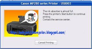 Cara Resset Canon Pixma MP287