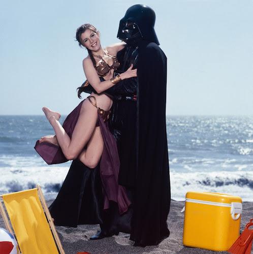 Carrie Fisher in Gold Bikini