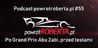podcast powrotroberta vlog Robert Kubica Williams F1