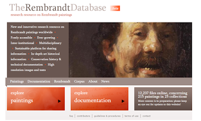 Rembrandt Database nyitólap