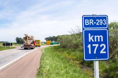 Levantamento do Dnit aponta que BR-293 apresenta trechos ruins e péssimos