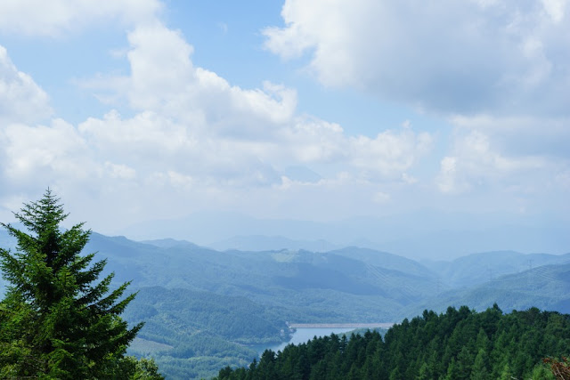 夏の大菩薩嶺・唐松尾根からの景色