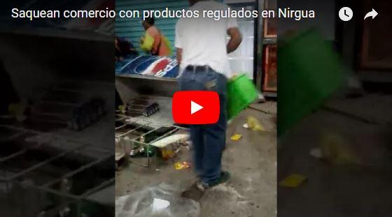Saquearon negocios con productos regulados en Yaracuy