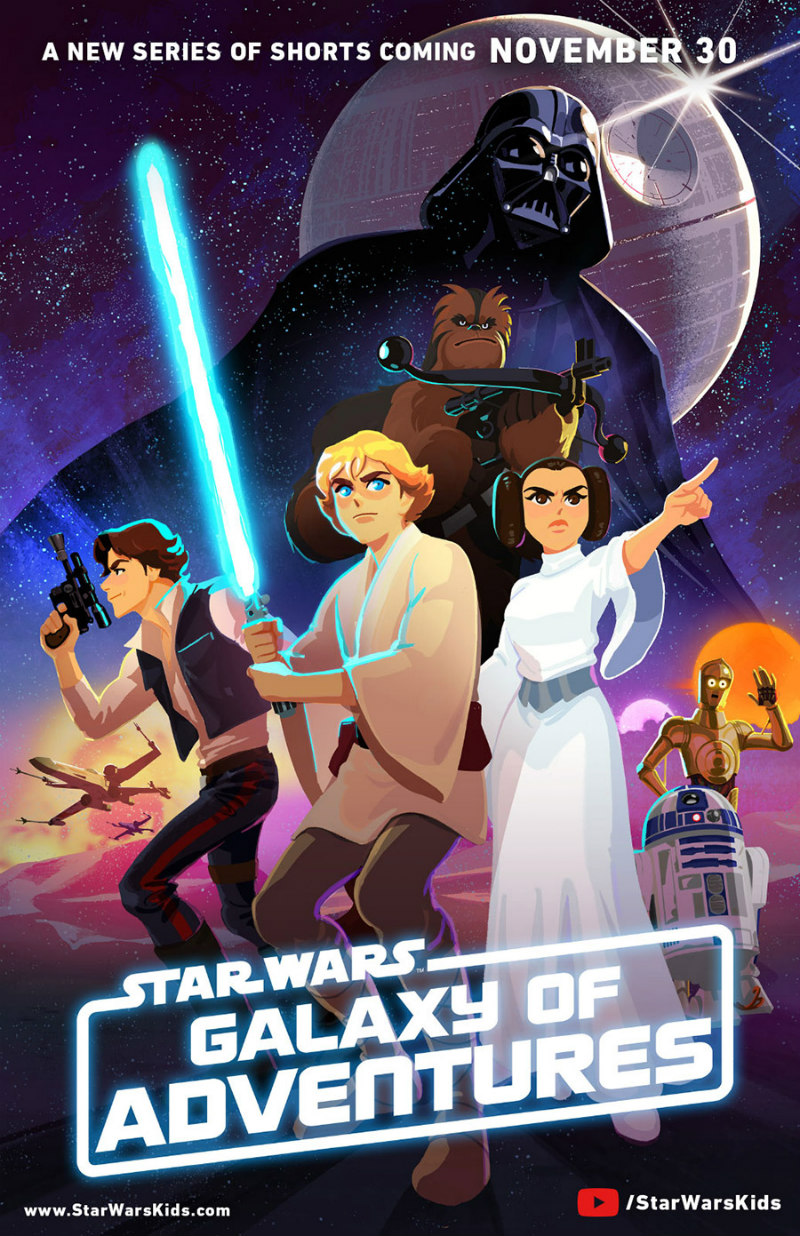 STAR WARS GALAXY OF ADVENTURES artwork