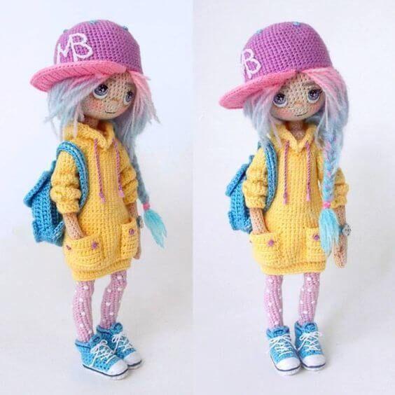 Boneca (Amigurumi) | Bonecas, Boneca amigurumi, Bonecas de crochê | 564x564