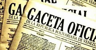 Léase SUMARIO de Gaceta oficial Nº 41307 26 de diciembre de 2017