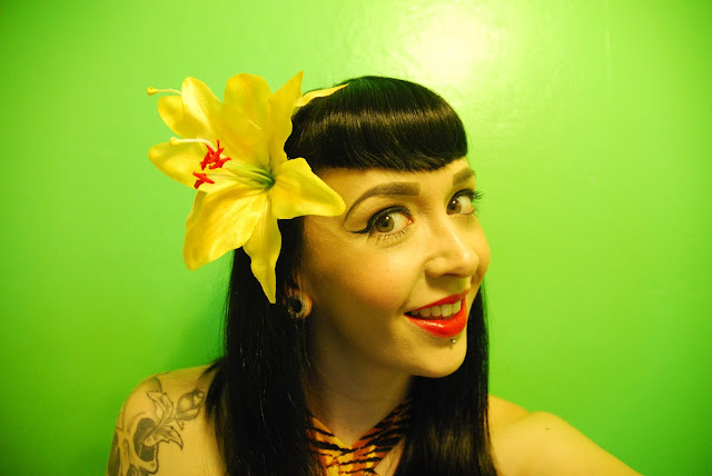 Paloma Double Yellow Lilly Hair Flower - Lady Luck's Boutique