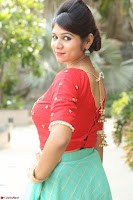 Lucky Shree Looks super cute in Bright Red Green Anarkali Dress ~  Exclusive 015.JPG