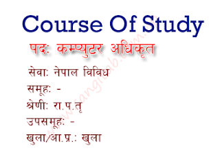 Computer Officer Gazetted Third Class Officer Level Course of Study/Syllabus