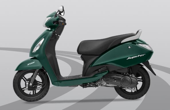 TVS Jupiter Green Colour