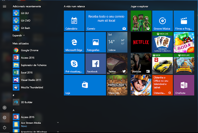 menu iniciar windows 10