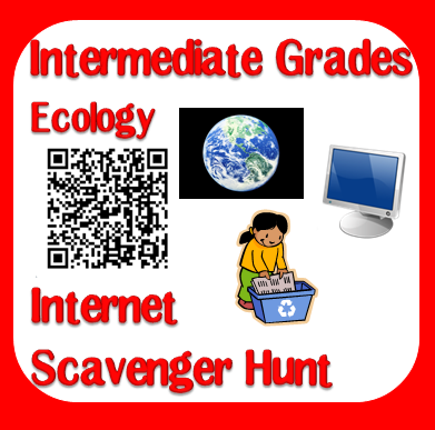 Free internet scavenger hunt on ecology from Raki's Rad Resources.