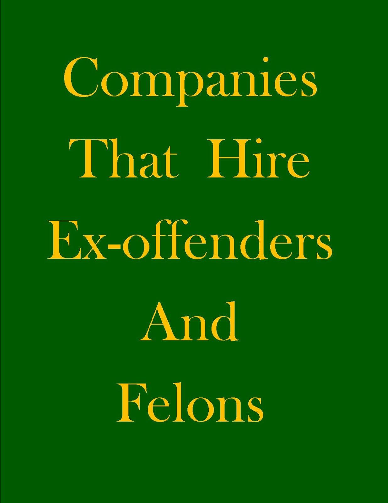 Jobs For Felons In Georgia - Companies - Help For Felons