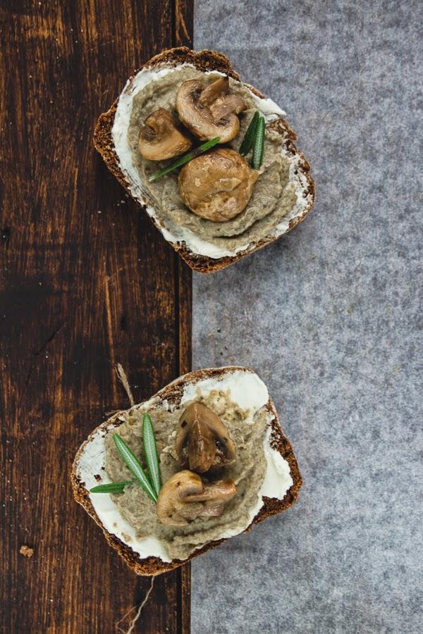 Eggplant rosemary mushroom spread dip