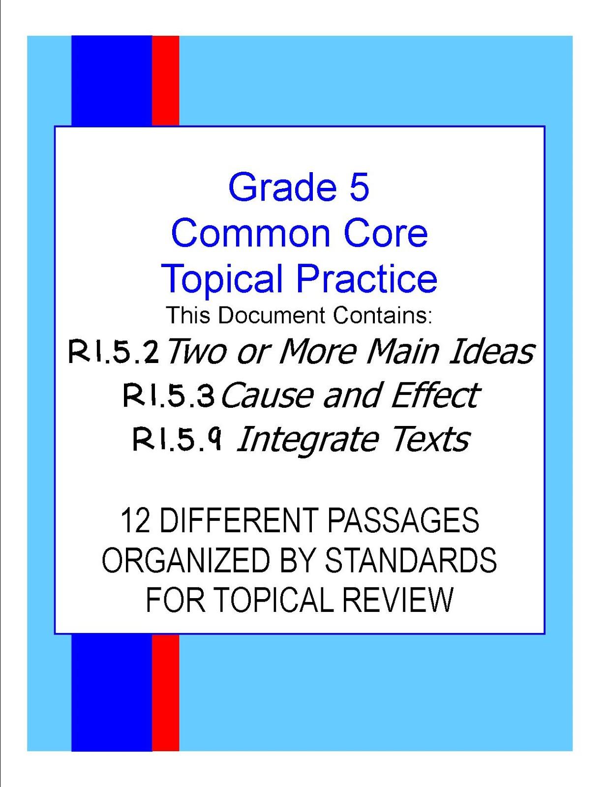 Literacy Amp Math Ideas Grade 5 Daily Morning Common Core