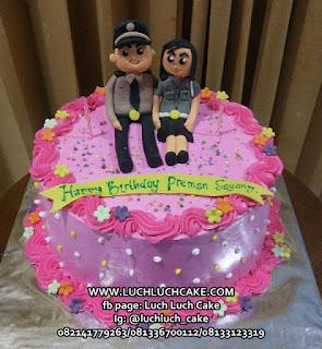 Kue Tart Ulang Tahun Polwan dan Polisi