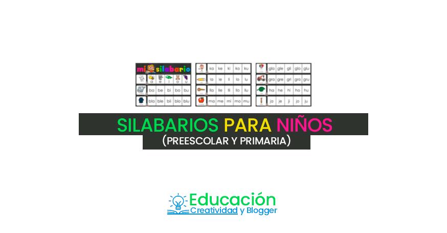 silabarios para niños de primaria