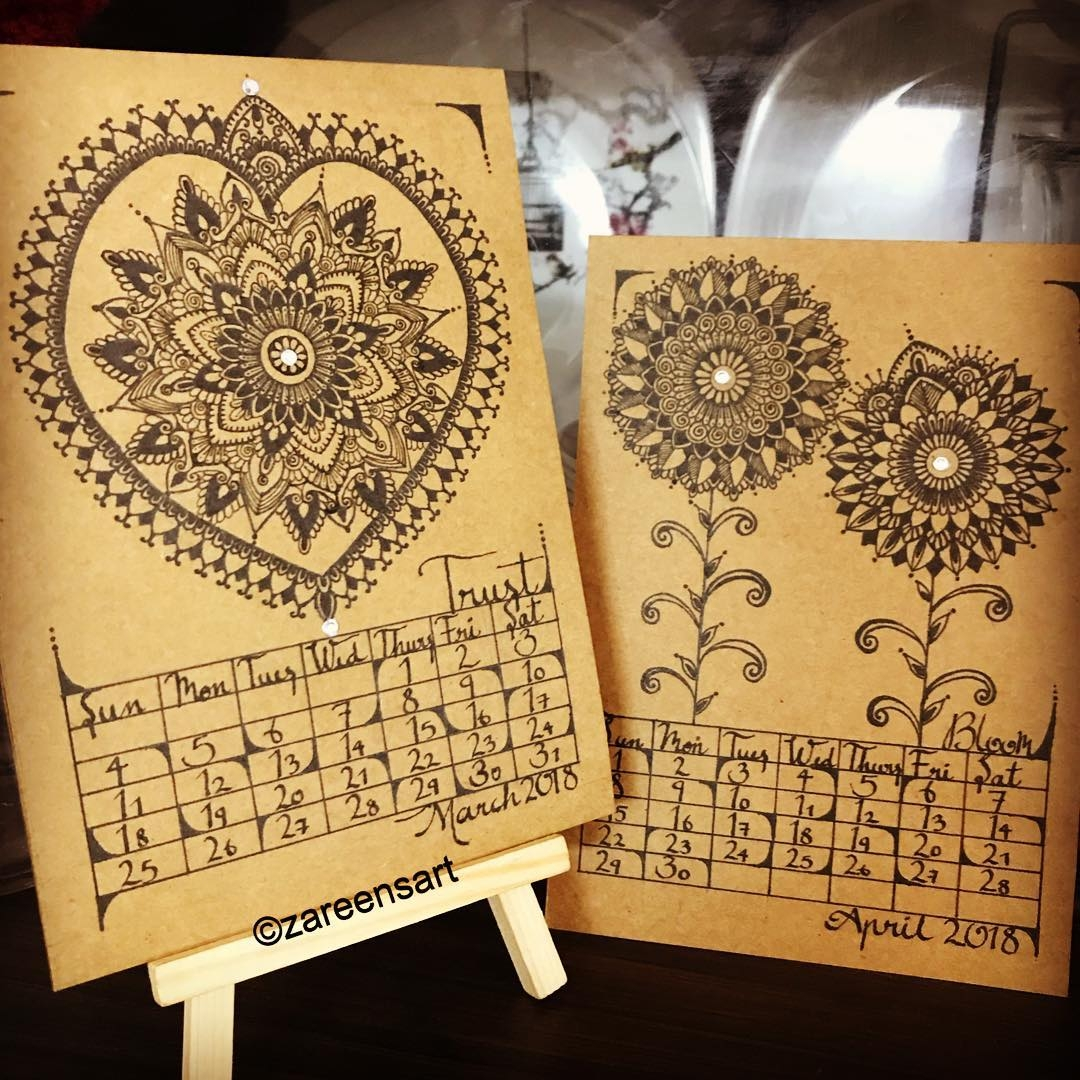 10-March-and-April-Mandala-Drawings-on-Journals-Calendar-and-Boxes-www-designstack-co