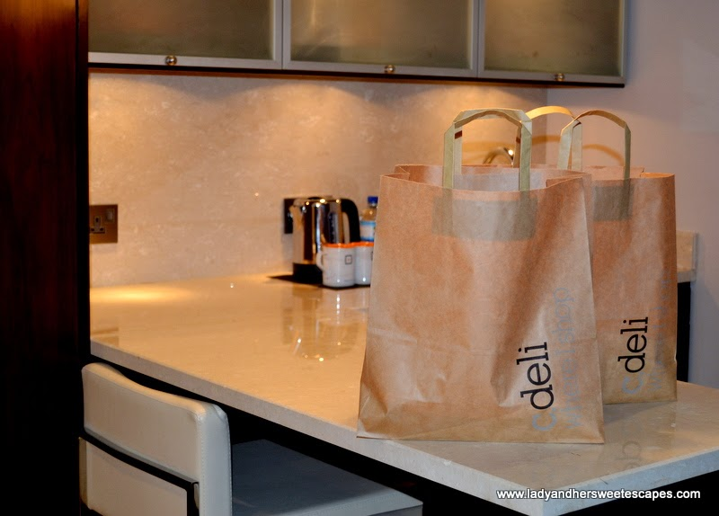 food bags from c.deli at Centro Capital Centre