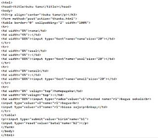 Cara Membuat Buku Tamu di HTML