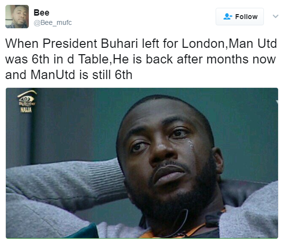 10 funny Tweets to welcome President Buhari back to Nigeria