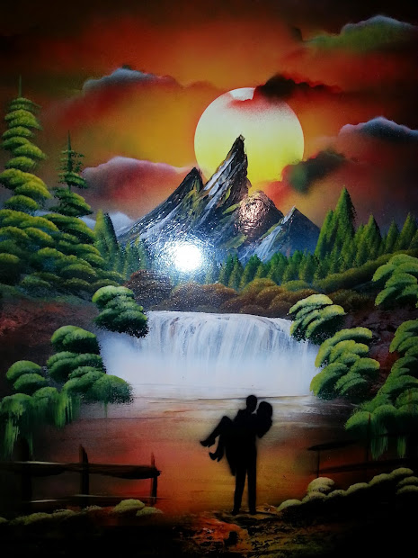 "Spray Paint Art Works Art-25""x20"" Romantic"
