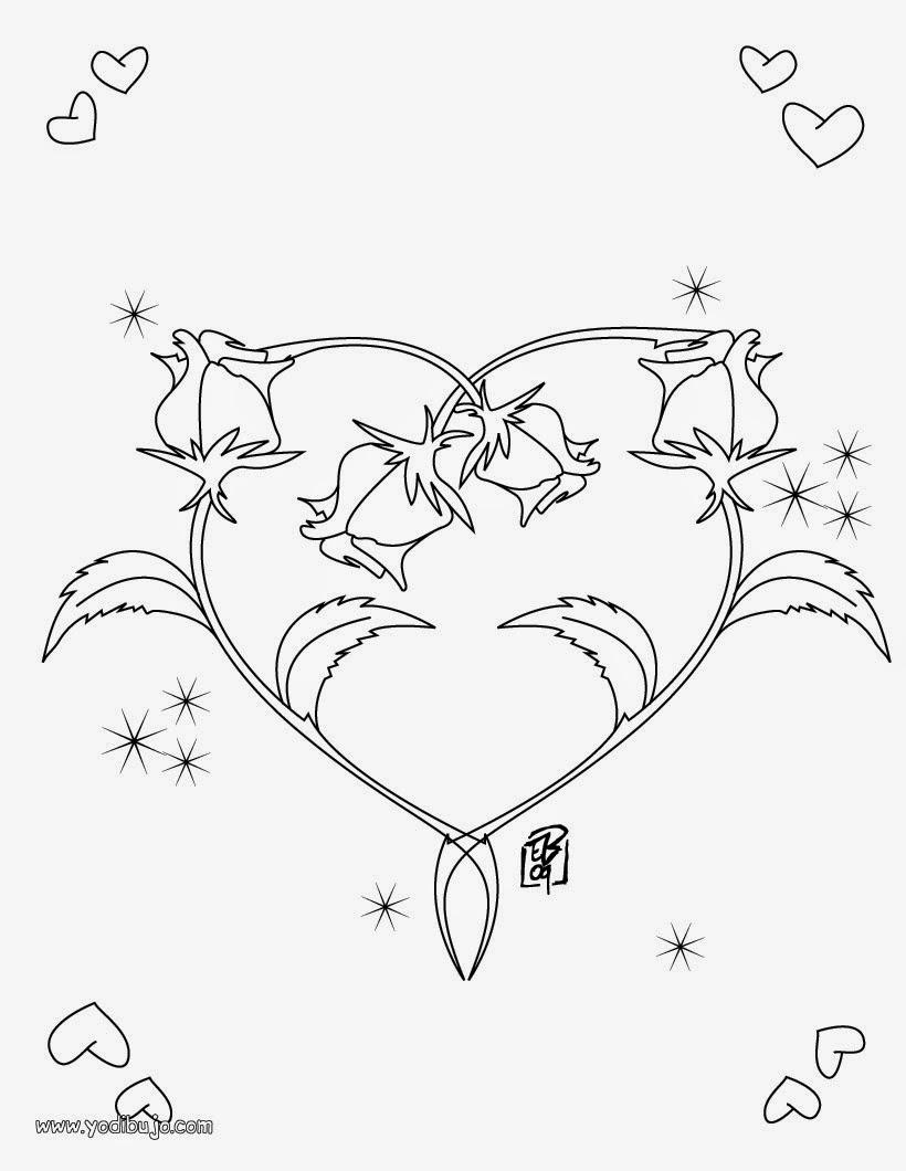 Lindas Imagenes De Dibujos De Amor Para Pintar Y Colorear Todo En
