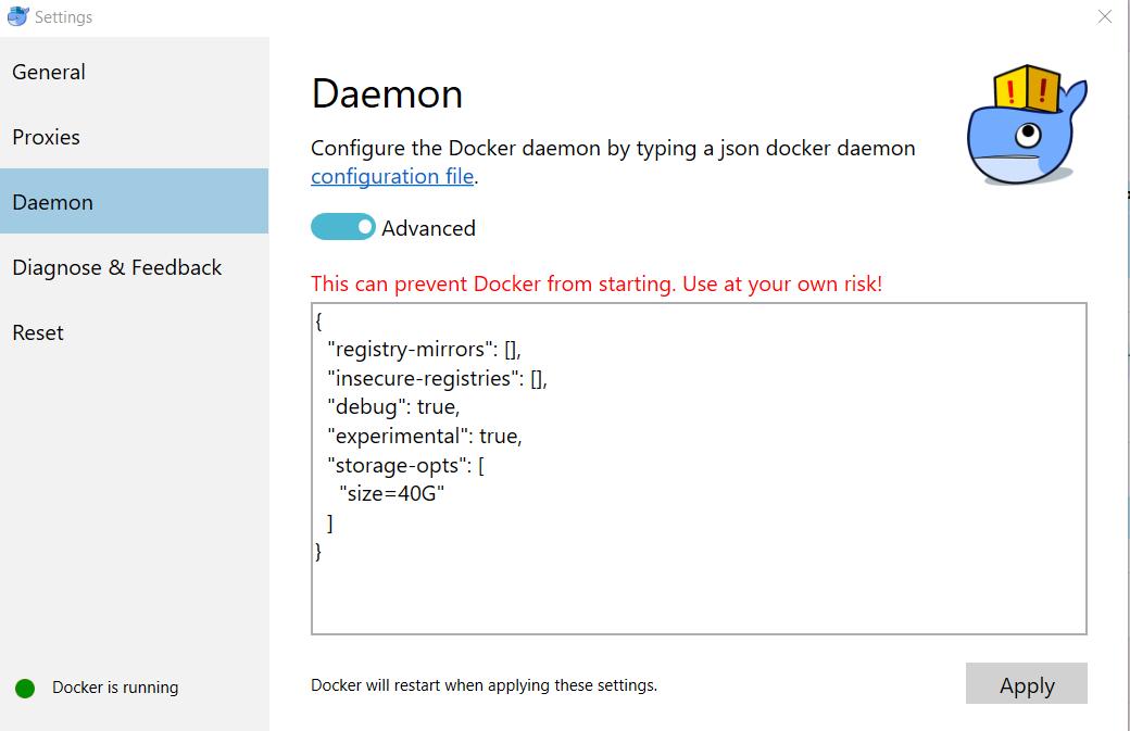 Andrew Potts: Docker for Windows: re-exec error: exit status