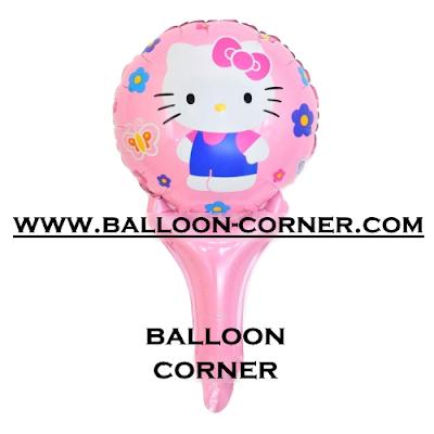 Balon Foil Raket Karakter Hello Kitty
