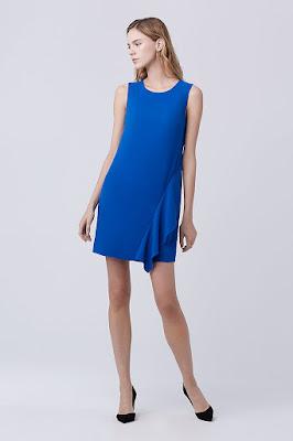 Shift Dress gaun tanpa pinggang untuk wanita hamil