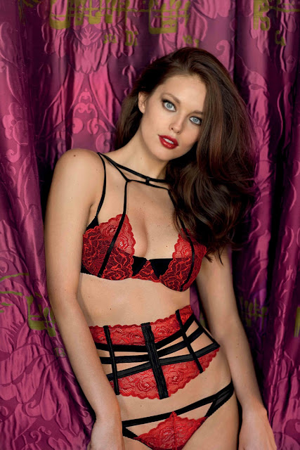 Emily DiDonato sizzles for the Yamamay Christmas Lingerie Lookbook Latest