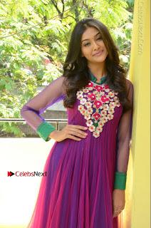 Actress Pooja Jhaveri Latest Stills in Purple Salwar Kameezt at Dwaraka Success Meet  0117.JPG