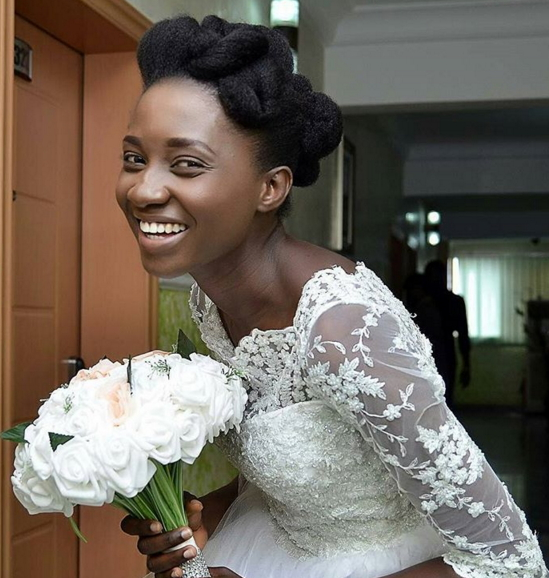 natural hairstyle wedding nigeria