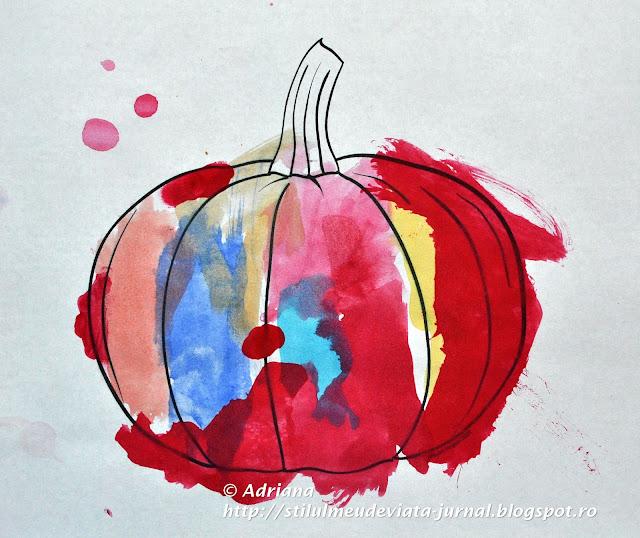 dovleac pictat, activitate de hallowen