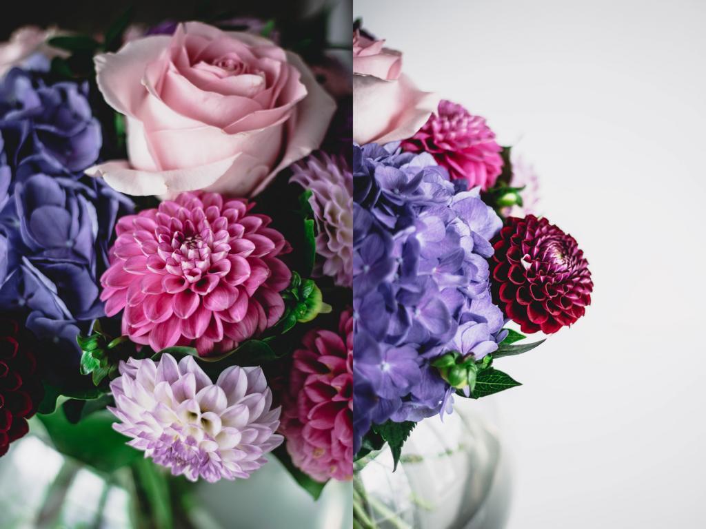 Blumenstrauß in Nahaufnahme