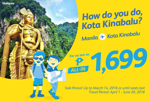 Cebu Pacific Low Fare Kota Kinabalu 2016