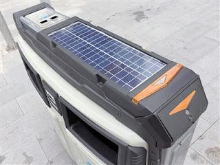 Poubelles intelligentes à l'énergie solaire à la ville de Chongqing