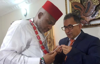 Biafra: Turkish diplomat visits Nnamdi Kanu [PHOTOS]