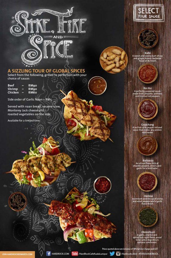 Smoke, Fire & Spice New Menu @ Hard Rock Cafe Kuala Lumpur