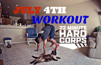 July 4th Workout, Independence Day Workout, 22 Minute Hard Corps Workout, 22 Minute Hard Corps Cardio 1