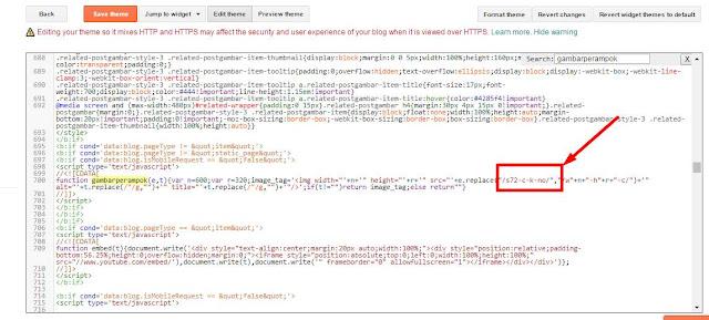 Cara merubah kode resize image blogger