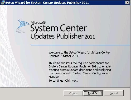 System Center Update Publisher 2011 Installation en Configuration