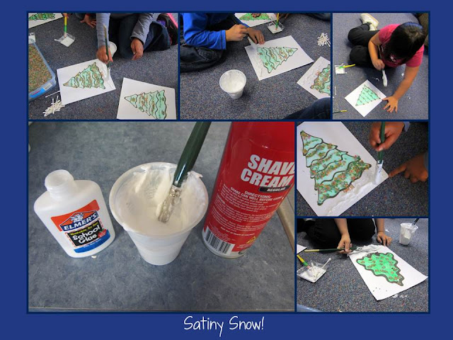 photo of: DIY Satiny Snow Craft Material at PreK+K Sharing