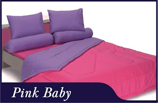 Sprei & Bedcover Shyra Polos - Pink Baby