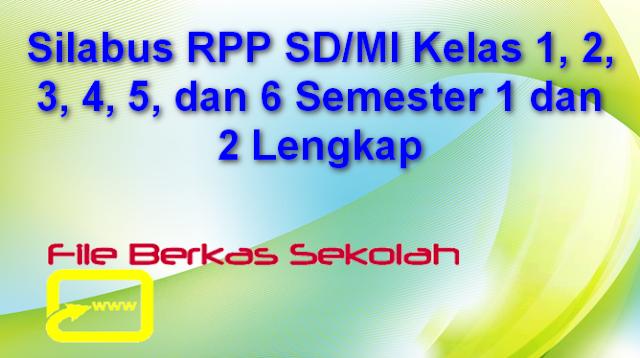 Silabus RPP SD/MI Kelas 1, 2, 3, 4, 5, dan 6 Semester 1 dan 2