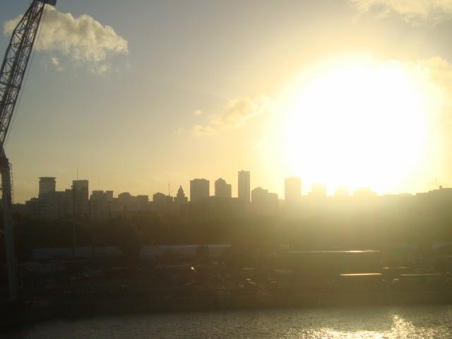 Entardecer em Buenos Aires visto do porto