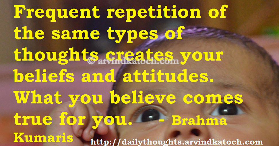 Brahma Kumaris Positive Thinking Quotes: Daily Thought HD Picture Message On What You Believe