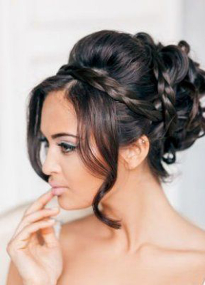 Stupendous Indian Hairstyles Collection 2015 16 For Bridal Fahion And Style Short Hairstyles Gunalazisus