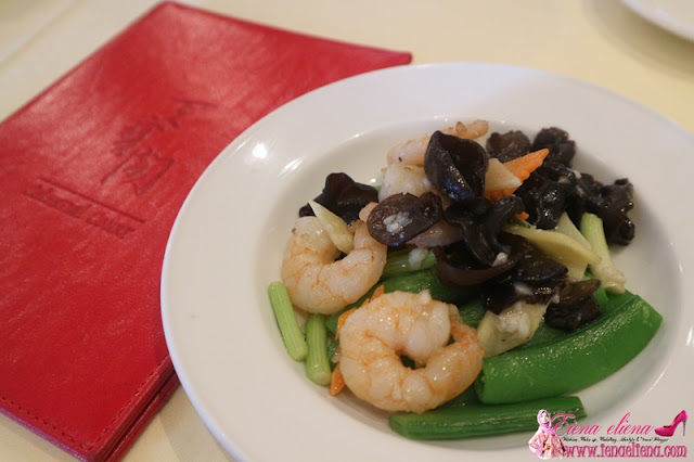 Stir Fried Prawn with Mushroom and Capsicum in Hot Bean Sauce