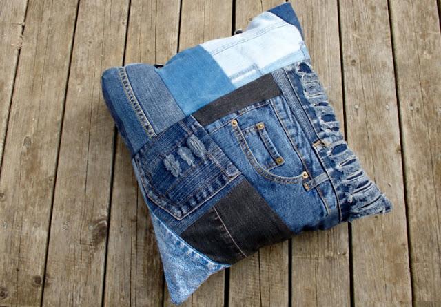 el yapımı kot yastık